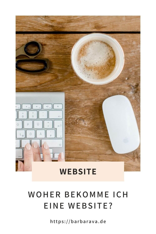 Woher bekomme ich eine Website?