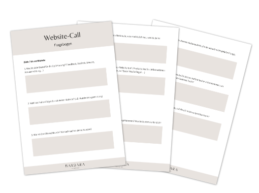 Fragebogen Website Call